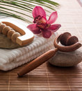 Towel flower massager inner beauty Stock Image
