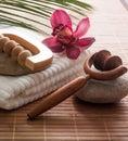 Towel flower massager inner beauty Stock Image