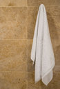 Towel hanging wall copy space Stock Image