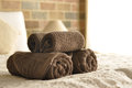 Towel in Hotel Room Royalty Free Stock Photo