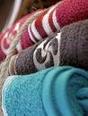 Towel laundry basque cross Royalty Free Stock Photo