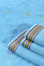 Towel on sunbed image of a high key colorfull simple natural beauty Stock Images