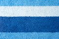 Towel texture blue and sky blue stripes Stock Photos