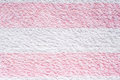 Towel texture pink and white stripes Royalty Free Stock Photo