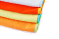 Towels colorful on white background Royalty Free Stock Photo