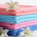Towels in different color Stock Images