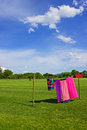 Towels drying near kamnik slovenia Stock Photo