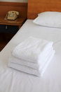 Towels for guest Stock Images
