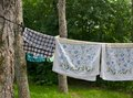 Towels Hanging to Dry Royalty Free Stock Photo
