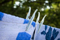 Towels hung to dry Royalty Free Stock Photo
