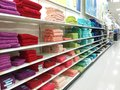 Towels for sale a rainbow of are Stock Photo