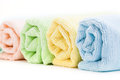 Towels on a white background Royalty Free Stock Photos