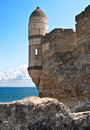 Tower of ancient turkish fortress. Royalty Free Stock Image