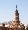 Tower of anglican church in tabriz iran Stock Photos