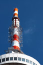 Tower antenna on blue sky Royalty Free Stock Photography