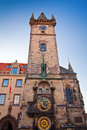Tower With Astronomical Clock Royalty Free Stock Photography
