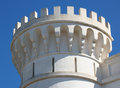 Tower with battlements against the sky monte toro menorca Royalty Free Stock Image