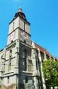 Tower of the black church brasov romania against blue sky in in transylvania Stock Photos