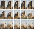 Tower block demolition Royalty Free Stock Images