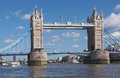 Tower bridge across river thames london Royalty Free Stock Image