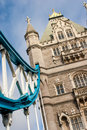 Tower bridge architectural detail of london england Stock Images