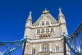 Tower bridge blue sky the in a very bright winter day with very london Stock Photo