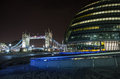 Tower bridge and city hall london england Stock Photography