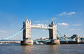 Tower bridge during daytime london Stock Photo