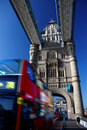Tower bridge and double-decker Royalty Free Stock Photo