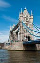Tower bridge famous in london united kingdom gorgeous blue sky Royalty Free Stock Image