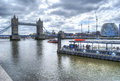 Tower bridge in hdr beautiful view of the london Stock Photos