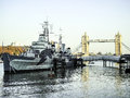 Tower bridge hms belfast london the uk Stock Image