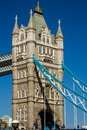 Tower bridge london detail of on a beautiful spring day Stock Photography