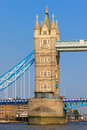 Tower bridge london england closeup view of one of the towers on uk europe Stock Photo