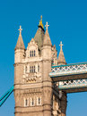 Tower bridge london england closeup view of one of the towers on uk europe Royalty Free Stock Photography