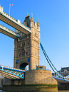 Tower bridge london england closeup view of one of the towers on uk europe Royalty Free Stock Photos