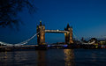 Tower bridge in london the england at dusk Stock Photography