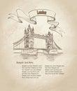 Tower Bridge, London, England, UK, Europe. Travel wallpaper Royalty Free Stock Photo
