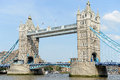 Tower bridge london famous a draw in crossing the thames river Stock Images