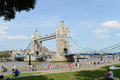 Tower bridge london famous a draw in crossing the thames river Stock Photography