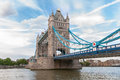 Tower bridge in london famous landmark of united kingdom Stock Photography