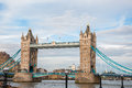 Tower bridge in london famous landmark of united kingdom Royalty Free Stock Images