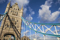 Tower bridge in london the magnificent architecture of Royalty Free Stock Images
