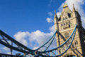 Tower bridge in london the magnificent architecture of Royalty Free Stock Photo