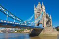 Tower bridge london on river thames uk Royalty Free Stock Images