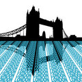 Tower Bridge with London text Royalty Free Stock Photography