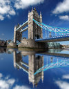 Tower bridge in london uk famous with clear sky Royalty Free Stock Photos