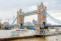 Tower bridge london uk katharine pier and england Stock Image
