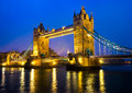 Tower bridge london uk at night Stock Images
