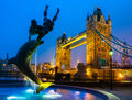 Tower bridge london uk at night Stock Photo